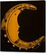 Moon Phase In Orange Canvas Print
