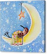 Moon Piper Canvas Print