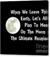 Moon Reunion Canvas Print