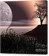 Moon Rise On Another World Canvas Print