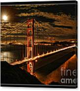 Moon Rise San Francisco Golden Gate Bridge Canvas Print