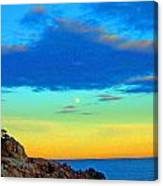 Moon Rising In New England Canvas Print