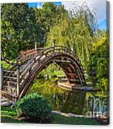 Moonbridge - The Beautifully Renovated Japanese Gardens At The Huntington Library. Canvas Print