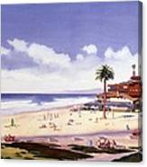 Moonlight Beach Encinitas Canvas Print