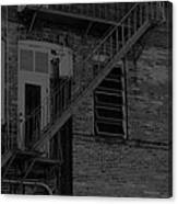 Moonlight Fire Escape Usa Near Infrared Canvas Print
