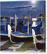 Moonlight Gondolas - Venice Canvas Print