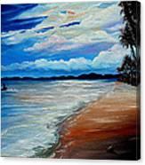Moonlight In Tobago Canvas Print