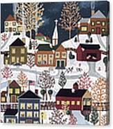 Moonlight In Vermont Canvas Print