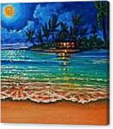 Moonlight Lagoon Canvas Print