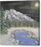 Moonlight Mountain Canvas Print