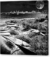 Moonlight On The Bay Canvas Print