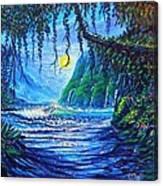 Moonlight Path To Paradise Canvas Print