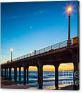 Moonlight Pier Canvas Print
