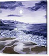 Moonlight Sonata Over Carmel Canvas Print