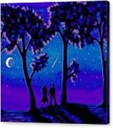 Moonlight Walk Canvas Print