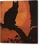 Moonlighting Cat Canvas Print