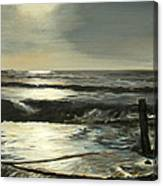 Moonlit Atlantic Canvas Print