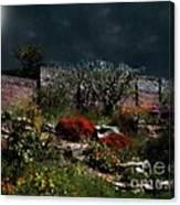 Moonlit Hillside In Africa Canvas Print