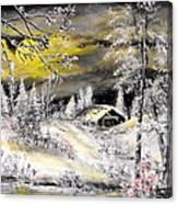 Moonlit Snow Canvas Print