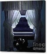 Moonlit Window Canvas Print