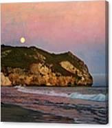 Moonrise At Avila Beach Canvas Print