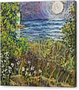 Moonrise At Sunset Canvas Print