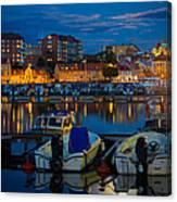 Moonrise In Karlskrona Canvas Print