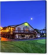 Moonrise On Golfcourse In Salem Ohio Canvas Print