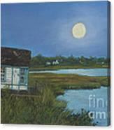 Moonrise Orient Point Canvas Print
