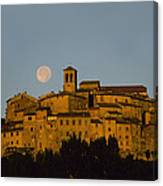 Moonrise Over Anghiarri Canvas Print