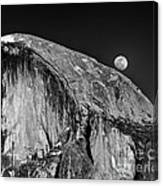 Moonrise Over Half Dome Canvas Print