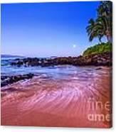 Moonrise Over Maui Canvas Print