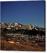 Moonrise Over Steamboat Canvas Print