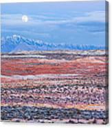 Moonrise Over Virgin Peak Canvas Print
