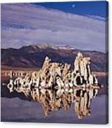 Moonset Over Tufa Canvas Print
