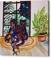 Moonstruck Cats - Winter Wonderland Canvas Print