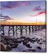 Moonta Bay Jetty Sunset Canvas Print