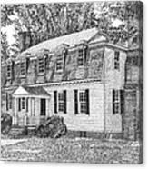 Moore House In Yorktown Virginia Canvas Print
