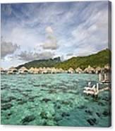 Moorea Lagoon Resort Canvas Print