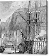 Moored Ships At Fort Regent,  St Canvas Print