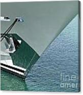 Moored Ships Bow With Retracted Anchor Abstract Canvas Print