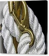 Mooring Rope-nantucket Massachusetts Series 02 Canvas Print