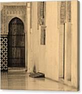 Moorish Walkway In Sepia At The Alhambra Canvas Print