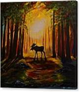 Moose Hideout Canvas Print