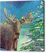Moosey Christmas Canvas Print