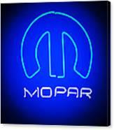 Mopar Neon Sign Canvas Print