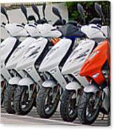 Moped City Canvas Print