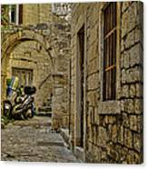 Moped Parking Canvas Print