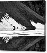 Moraine Lake Abstract - Black And White #2 Canvas Print