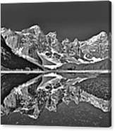 Moraine Lake - Black And White Canvas Print